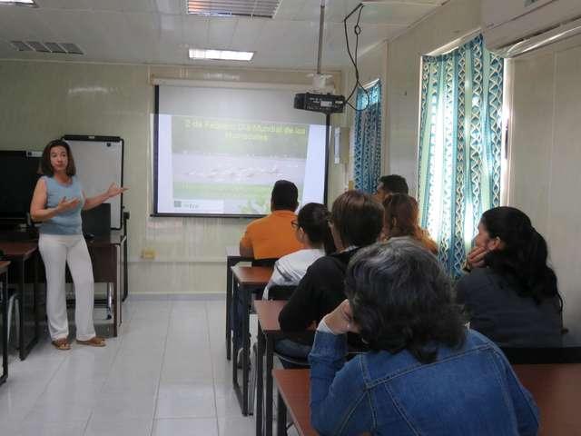 Desarrollan en CEAC conferencia conmemorativa al día mundial de los humedales en el marco del proyecto IWEco.cuba